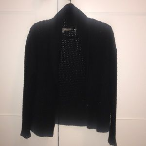 360 sweater black blazer like knit cardigan- guc